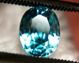 2.69 Carat VVS1 South East Asian Blue Zircon - Beautiful