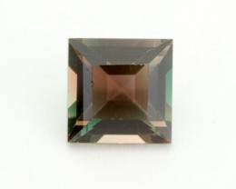 1ct Oregon Sunstone, Green/Red Square (S1815)