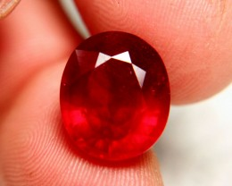 14.28 Carat Large, Fiery SI Cherry Ruby - Gorgeous