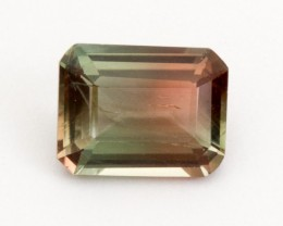 2ct Oregon Sunstone, Bicolor Red/Green Rectangle (S1859)