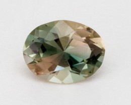 1.3ct Oregon Sunstone, Green/Champagne Oval (S516)