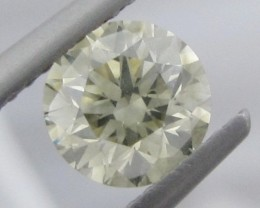 1.10ct  6.3mm Light Yellow DIAMOND