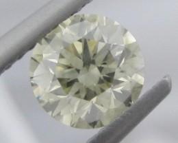 1.10ct  6.3mm Light Yellow DIAMOND