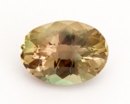 6.4ct Oregon Sunstone, Bicolor Champagne with Green/Pink Oval (S1096)