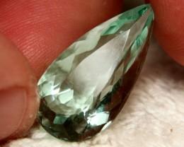 22.2 Carat VVS Fluorite Pear - Superb Color