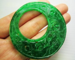 49CTS LARGE 58 MM ROUND  JADEITE MJA 202