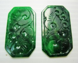46 CTS  PAIR  RECTANGULAR JADEITE MJA 206
