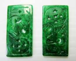16 CTS  PAIR RECTANGULAR  JADEITE MJA 213