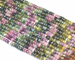 "NEW 6mm 7mm 7"" line Watermelon Tourmaline beads. TOU001"