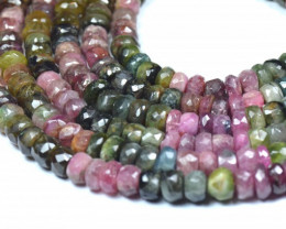 "NEW 7mm to 8mm 14"" line Watermelon Tourmaline beads. TOU002"