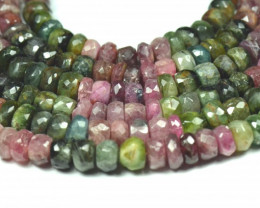 "NEW 7 to 8mm 7"" line Watermelon Tourmaline beads. TOU002"