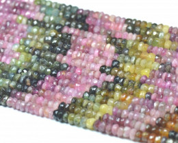 "NEW 5mm 14"" line Watermelon Tourmaline beads. TOU003"