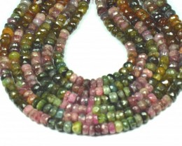 "NEW  6mm 7mm 14"" line Watermelon Tourmaline beads. TOU001"
