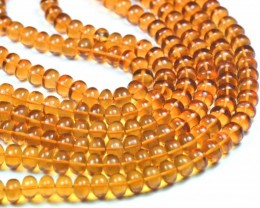 "NEW 8"" line 6 TO 7MM MADEIRA CITRINE smooth beads CITM001"