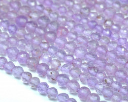 "14"" 3 - 4mm Lavender AMETHYST faceted round beads PAM001"