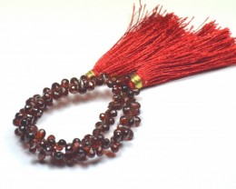 "NEW 9"" line 5/6mm Red Garnet Briolettes 100/110 gems GARB002"