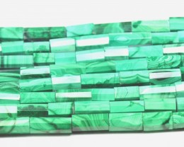 "NEW & SALE 10mm 15"" line MALACHITE tube beads AAA MAL003"
