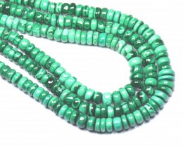 "NEW 6mm to 8mm 15"" line MALACHITE roundelle beads AAA MAL004"