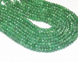 "4mm AVENTURINE 14"" faceted beads AV001  Natural & untreated"