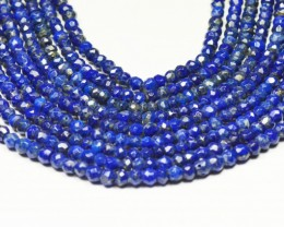 "4mm Lapis Lazuli blue beads faceted 13.5"" line LAPB001"