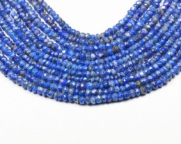 "3mm Lapis Lazuli beads faceted 13.5"" line LAPB002"