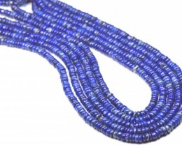 4.5mm Lapis Lazuli smooth blue beads 13.5inch line LAPB003