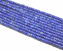 5mm to 5.5mm Lapis Lazuli smooth blue beads 13.5