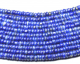 5mm to 5.5mm Lapis Lazuli smooth blue beads 13.5in LAPB004