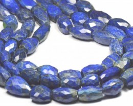 14in Lapis Lazuli 18 to 21mm faceted tumble beads LAPB005