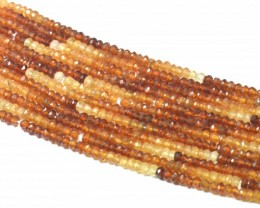 SALE 4mm HESSONITE GARNET beads 14