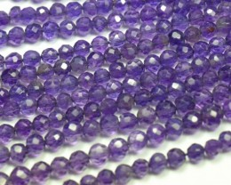 "NEW IN 3mm 14""  AAA Amethyst round beads supreme color AM003"