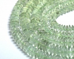 "NEW IN  7-8mm 10"" AAA Green Amethyst roundelle beads AMG002"