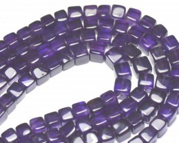 Amethyst cube box beads 16in 4mm to 5mm  AAA AM004