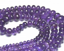 "SALE FROM $200 5 to 12mm 15"" AAA Amethyst smooth beads AM005"