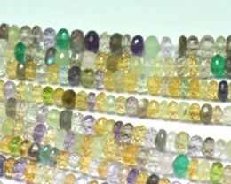 "NEW ITEM 6mm 10"" MULTI-GEM mixed faceted beads AAA MIXB001"