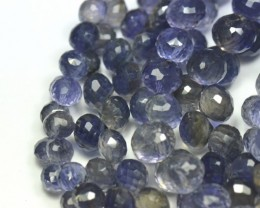 NEW ITEM   6mm - 7mm 24 IOLITE onion shape briolettes iob002