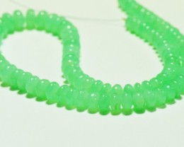 """NEW ITEM   8"""" 6mm - 10mm Chrysoprase AAA smooth beads ch004"""