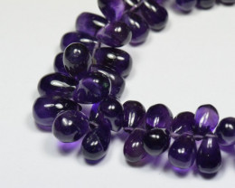 Amethyst briolettes smooth AA AMB002 SALE from $65 8mm - 11mm 25 pieces