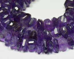 "NEW-DO NOT MISS! 11-14mm 9.5"" Amethyst rough cut beads am009"