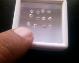 NATURAL-WHITEDIAMOND--8-10PTSSIZE-12PCS
