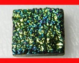 30cts Natural Titanium Druzy Cab Stone Z877