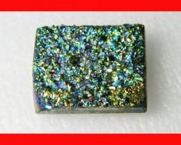 42cts Natural Titanium Druzy Cab Stone Z880