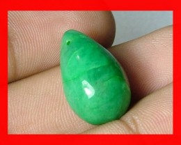 18cts 19x12mm Brazil Emerald Drilled Bead Z900