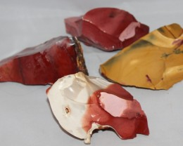 Mookaite four rough pieces, perfect lapidary (GR44)