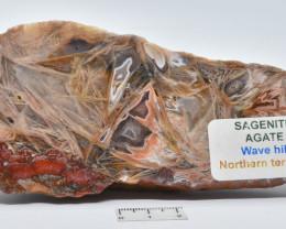 Sagenite Agate Polished Slice Australia (GR45)