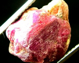 20.50  CTS BURMA RUBY ROUGH RICH PINKY  RED   RG-235