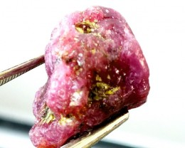 17.5  CTS BURMA RUBY ROUGH RICH PINKY  RED   RG-256