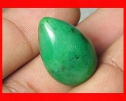 38cts 23x15mm Brazil Emerald Drilled Bead Z918