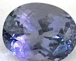 CERTIFIED 1.84ct  Purple Blue Oval Tanzanite  B239