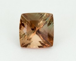 2.7ct Oregon Sunstone, Peach/Green Square (S2084)